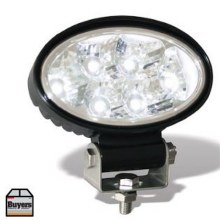 12-24V CLEAR 6LED OVAL ALUM.