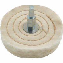 "2½"" BUFFING WHEEL 35 PLY 1/4"" SHANK"