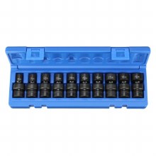 "3/8"" DRIVE 10PC STANDARD UNIVERSAL MM 6POINT"