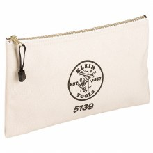 "CANVAS ZIPPER BAG 7"" x 12-1/2"""