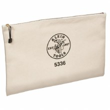 "CANVAS ZIPPER BAG 17"" x 12"""