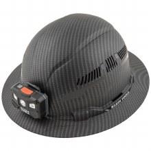 KARBN HARD HAT  W/VENT & LIGHT