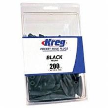 D-BLACK PLASTIC PLUGS 200 PK