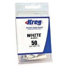 WHITE PLASTIC PLUGS 50 PK