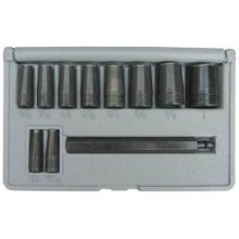 11 PC.  GASKET HOLE PUNCH SET