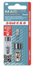 2 CELL C & D BULBS
