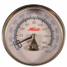 PRESSURE GAUGE 0-160 PSI, BACK