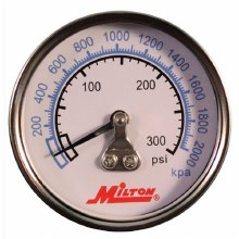 PRESSURE GAUGE 0-300 PSI, BACK