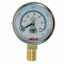 PRESSURE GAUGE 0-60 PSI BOTTOM