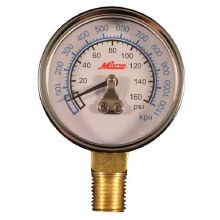 PRESSURE GAUGE 0-160 PSI BOTTO