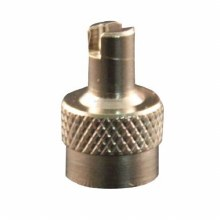 METAL VALVE CAP, SCREWDRIVER TYPE