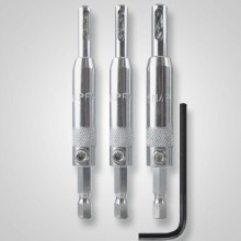 3PC SELF-CENTER HINGE BIT SET