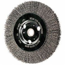 "6"" CRIMPED WHEEL.014 WIRE, 2"" ARBOR"