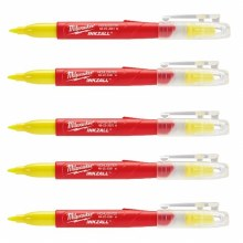 5PK INKZALL YELLOW HIGHLIGHTER
