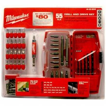 55PC DRILL & DRIVE SET