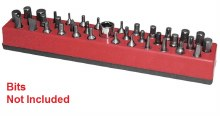 MAGNETIC 1/4 BIT HOLDER RED