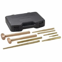 9PC BRASS HAMMER & PUNCH SET