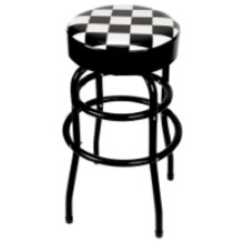 BAR STOOL, SWIVEL CHECKERBOARD