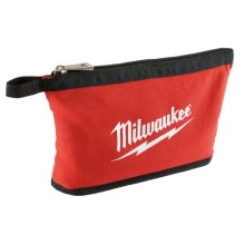 BLACK ZIPPERED POUCH