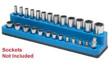 MAGNETIC 1/4 SOCKET HLDR BLUE