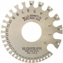 U.S. Standard Gage, Nos. 0-36