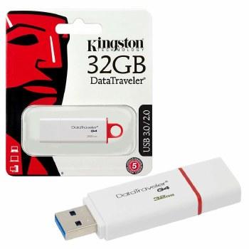 Kingston DataTraveler G4 32 GB USB 3.0 Flash Drive - Red, White