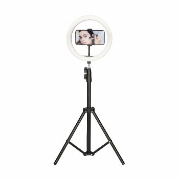 KSIX LED RING WITH FLOOR TRIPOD 1.6M FOR SMARTPHONE