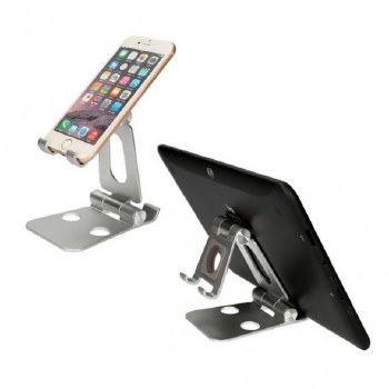 KSIX SWIVEL HOLDER FOR MOBILE PHONE AND TABLET SILVER