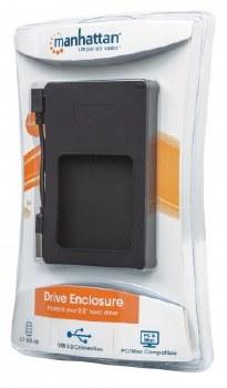 "Manhattan Drive Enclosure, USB 2.0, SATA, 2.5"""