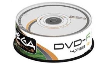 OMEGA 25PK DVD+R