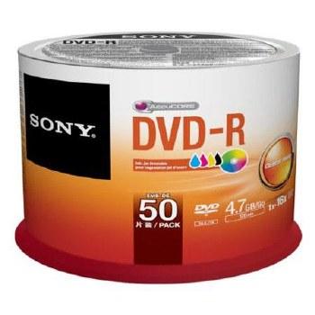 Sony DVD-R 4.7GB Recordable Media (50 Discs, Bulk)