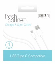 FRESH CONNECT USB C CHARGE & SYNC CABLE +2.4  PLUG
