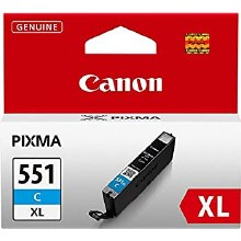 Canon CLI-551C XL Cyan High Yield Inkjet Cartridge 6444B001