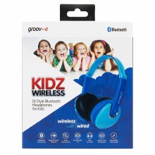 Groov-e DJ Style Bluetooth Headphones for Kids - blue
