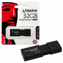 Kingston DataTraveler 100 G3 32 GB USB 3.0 Flash Drive - Blac