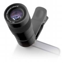 KSIX CLIP & ZOOM TELEPHOTO LENS 8X AND F1.1 WITH UNIVERSAL CLIP FOR SMARTPHONE