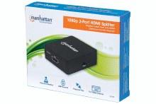 Manhattan 1080p 2-Port HDMI Splitter USB Powered, Black