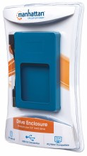 "Manhattan Drive Enclosure  Hi-Speed USB 2.0, SATA, 2.5"", Blue Silicone"