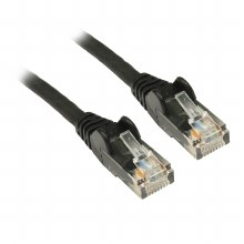 V7 Black Cat6 Unshielded (UTP) Cable RJ45 Male to RJ45 Male 0.5m