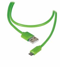 UNIVERSAL MICRO USB CABLE 1M - GREEN