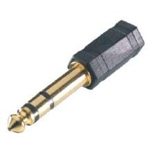 VIVANCO Adapter 6.3mm/3.5mm, golden socket, stereo