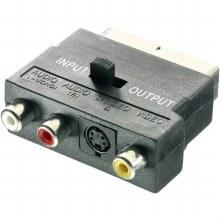 VIVANCO Scart Plug to 3x RCA Socket With Switch