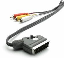 VIVANCO Scart plug to 3x RCA plug 1.5M cable