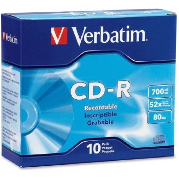 Verbatim 43415 CD-R Slim Jewel Case (Pack of 10)