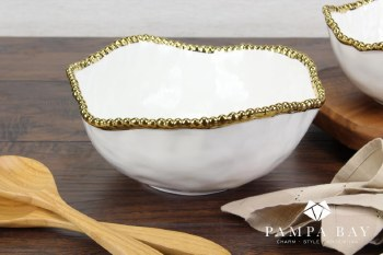 Pampa Bay Large Gold Salad Bowl