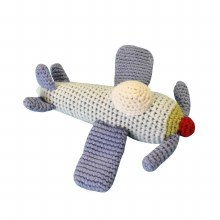 Crocheted Airplane Rattle