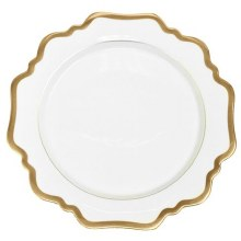 Anna Weatherly Antique White/Gold Dinner Plate