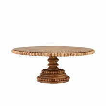 Beaded Wood Cake Stand