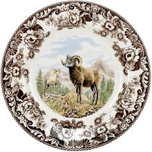 Woodland Spode Big Horn Sheep Dinner Plate