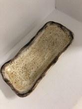Birch Glaze Butter/Cracker Server